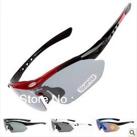 () bicycle glasses, bike Sunglasses, Sports Eyewear myopia frame 5 pairs polarized light lens - Yoga Store store