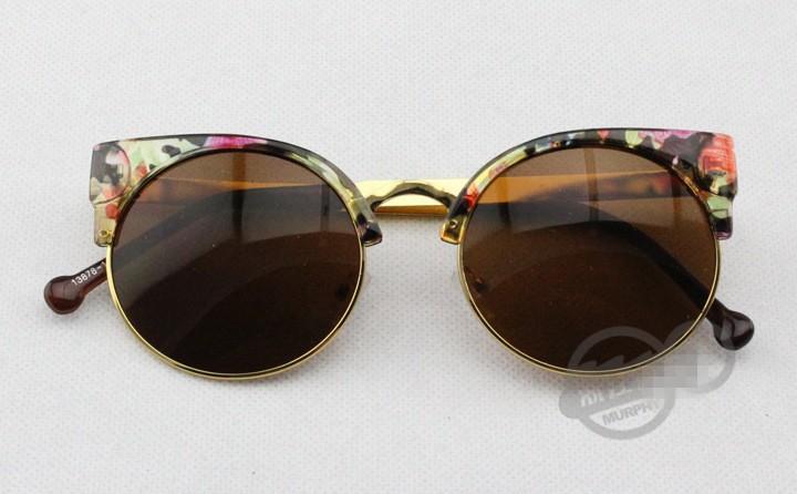 Semi-Rim Cat Eye Eyewear Eyeglasses Vintage Retro Cat Eye Round