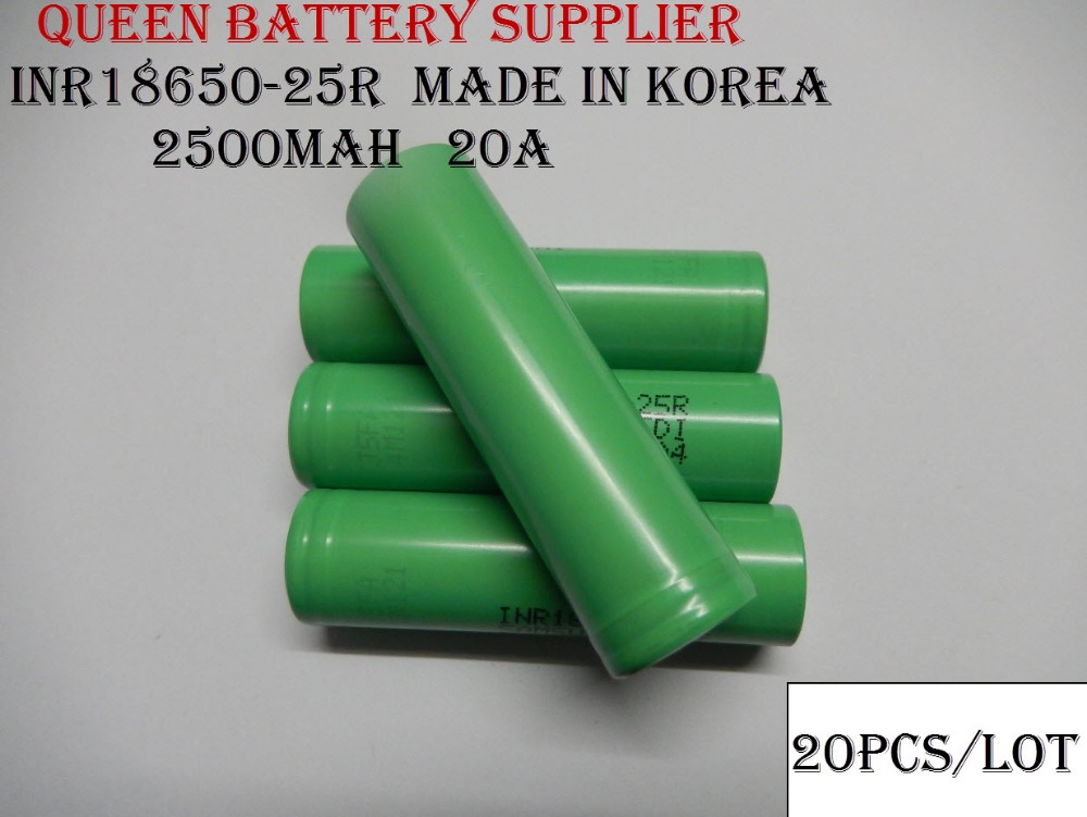 Здесь можно купить  (Free Shipping to Russia)20PCS/LOT  NEW Original INR18650-25R 3.7V 2500mAh   discharge 20A  High Drain Li-ion Battery  Бытовая электроника