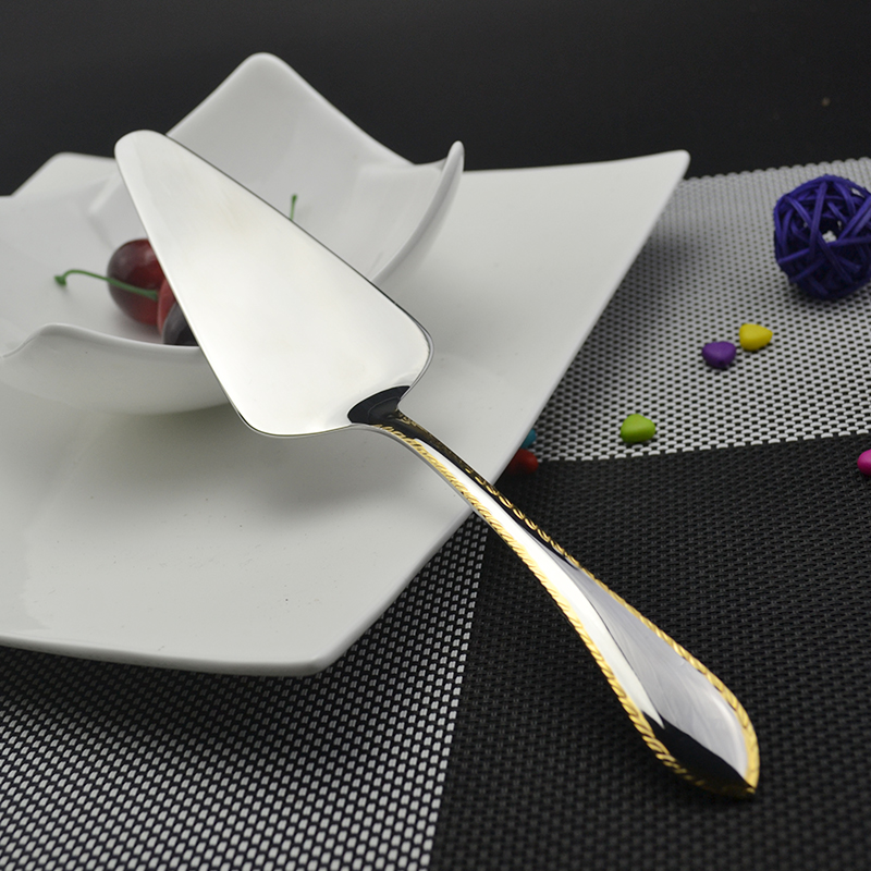 1 Pcs tool pizza shovel Cake Pizza Shovel Cake Turner Trimming Gold Cake Server Pie Pastry Cake Tool Stainless Steel Shovel(China (Mainland))