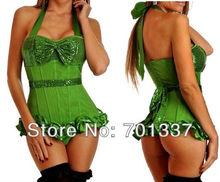 3 Colors Sexy lingerie Green Bustiers & Corsets Corset Fancy Dress party wear W1011 S–XXL