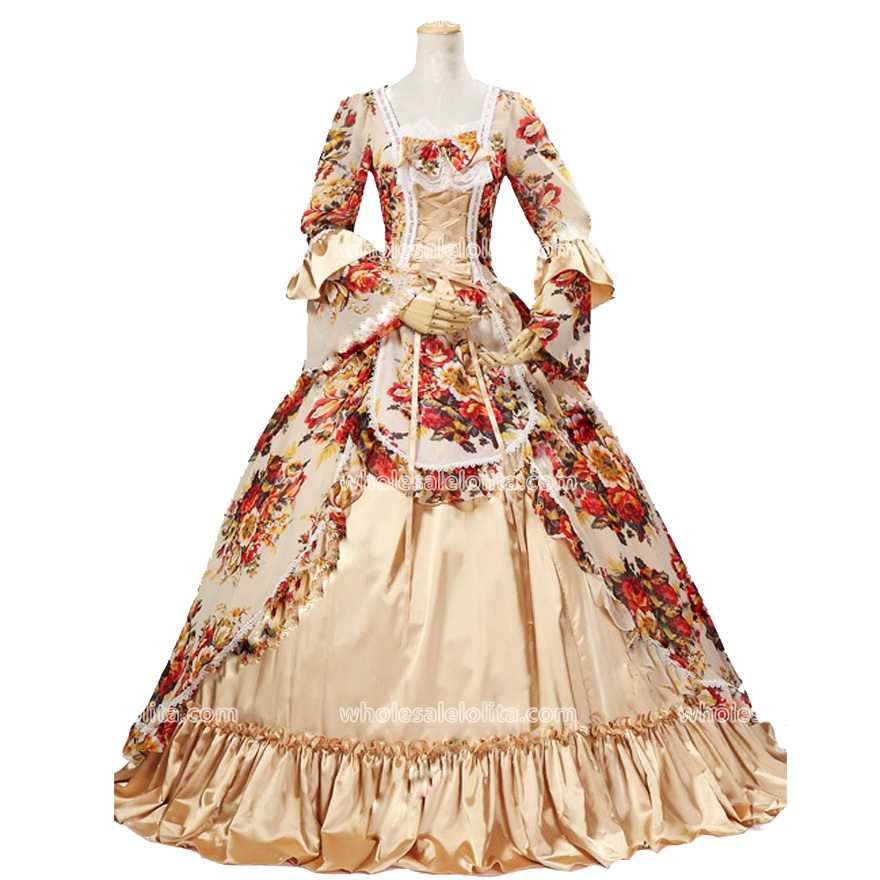 Buy Best Seller Rococo Style Vintage 18th Century Marie Antoinette Dress