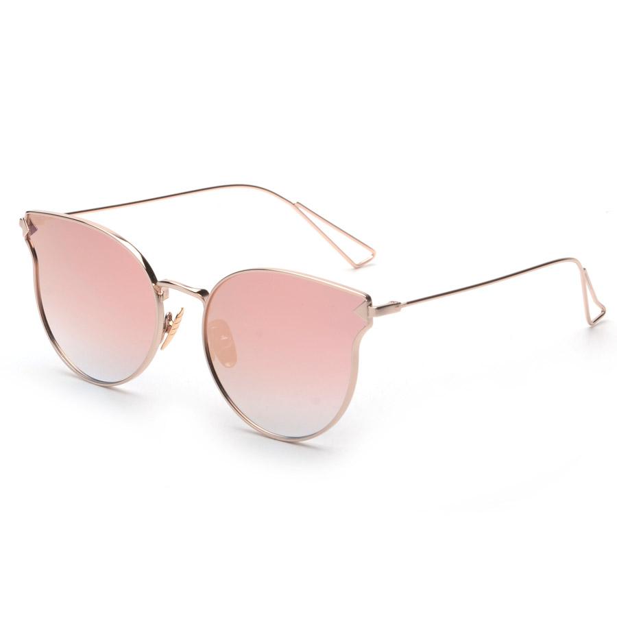 2016 New Fashion Alloy Wrap Mirror Frame Sunglasses Cosy Shades Women Brand Designer Eyewear Sun-stone Oculos H906 - Shining NO.1 store
