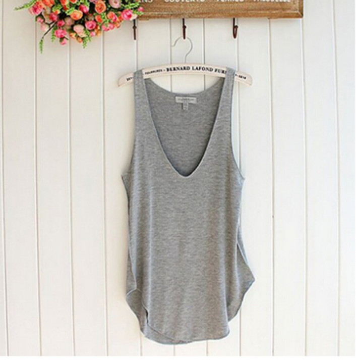 Attractive Fashion Summer Woman Lady Sleeveless V Neck Candy Vest Loose Tank Tops T shirt June