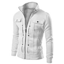 5 Colors 2015 New Arrival Autumn Mens Fashion Slim Fit Hoodies Zipper Sweatshirt Sportswear Male Casual Jacket Coat Korean Style(China (Mainland))