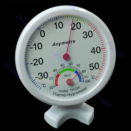 Free Shipping Mini Indoor Thermometer Hygrometer Wall Temperature Measure PY PY
