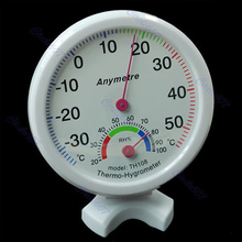 Free Shipping Mini Indoor Thermometer Hygrometer Wall Temperature Measure-PY-PY