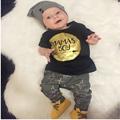 Newborn Baby boy clothes 2016 brand kids clothes sets t shirt pants suit infant clothing set