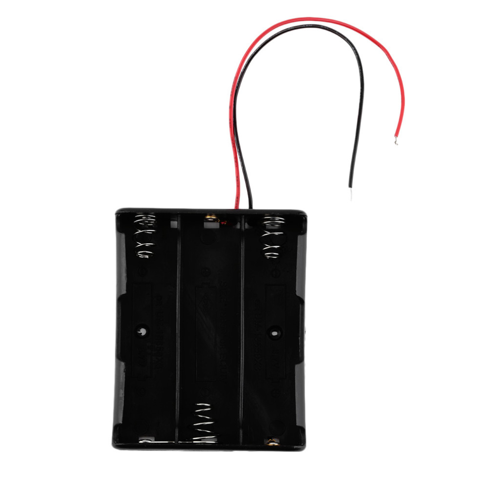 image for New Plastic Battery Storage Case Box Holder For 3x18650 3.7V With Wire