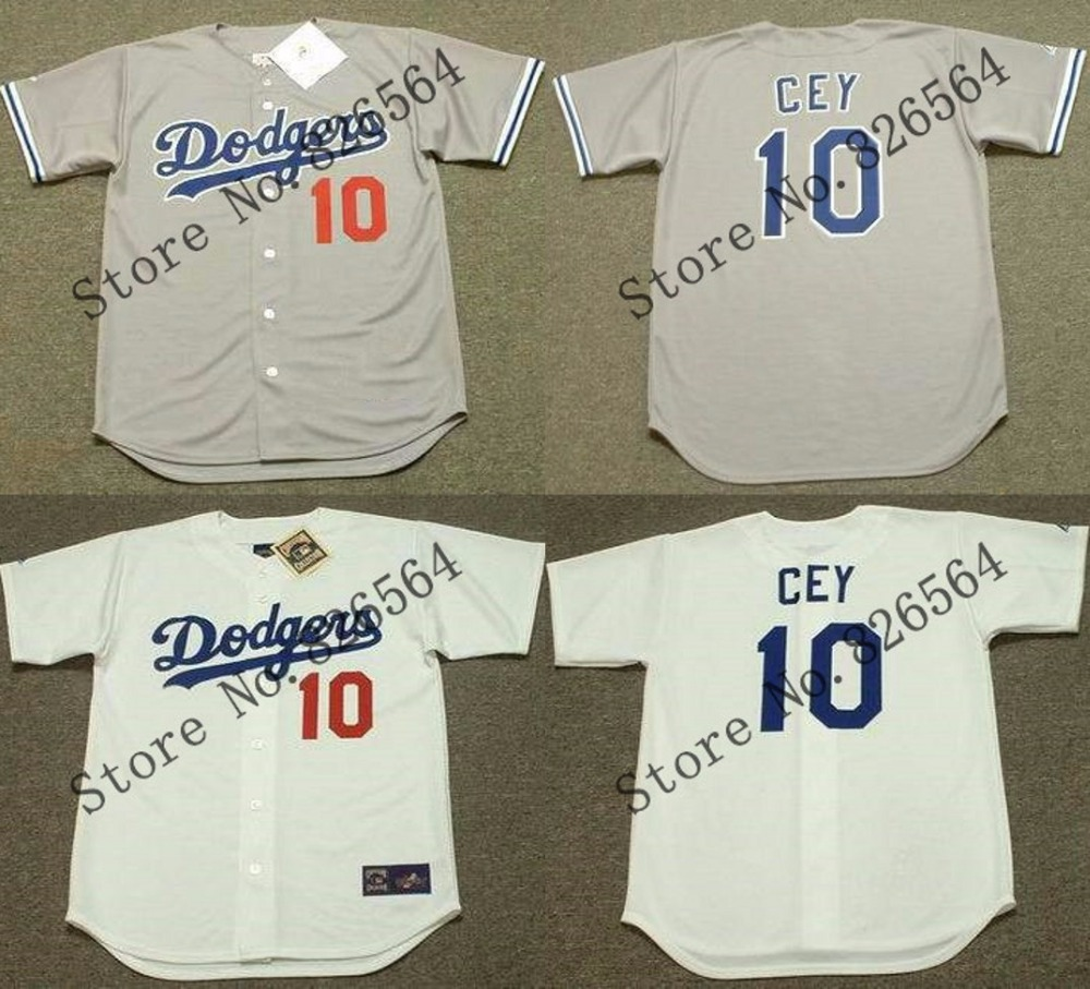 Cheap 10 RON CEY jersey Brooklyn 1981 Los Angeles Dodgers Throwback Baseball Jersey Stitched size S-4XL