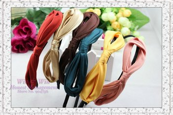 FREE SHIPPING alloy lady hair band girl hairbands lady headbands women headwear Bending big bowknot hair ornament bendable H1057
