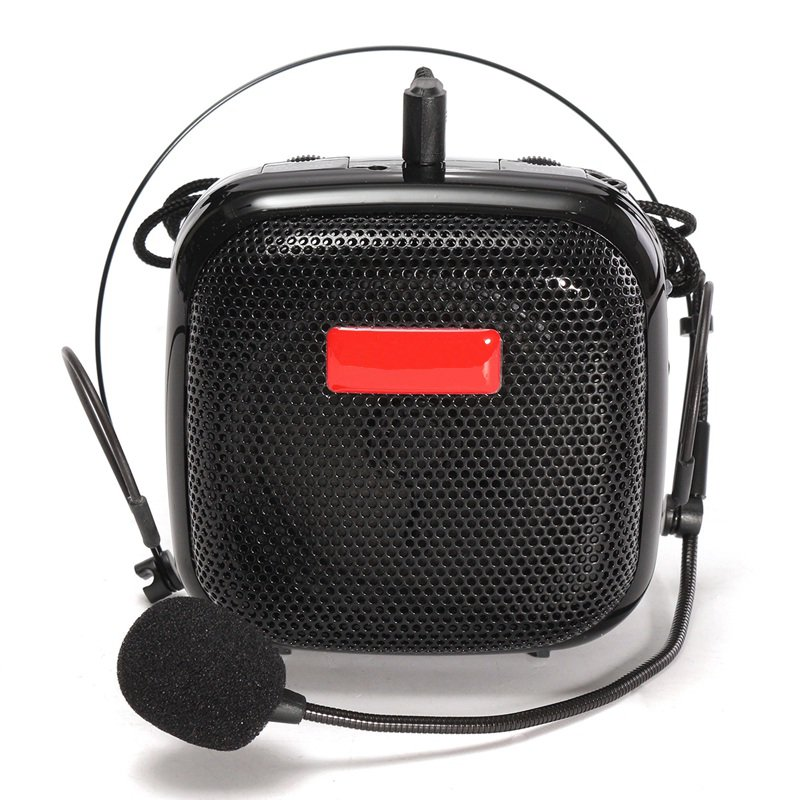 New Mini Waistband Voice Booster Speaker Wireless Microphone PA Amplifier 25W FM Radio Support TF Card Loudspeaker Universal(China (Mainland))