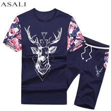 Buy ASALI New Fashion 2017 Summer Casual Suits Men Tracksuit Summer T Shirt Shorts Men Sets Cotton Brand Clothing 2 Piece Set Men for $17.85 in AliExpress store