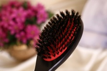 1pcs/pack Hair health care styling barber hair brush set massager 100% natural wild boar bristle Hair Extension loop Brush comb