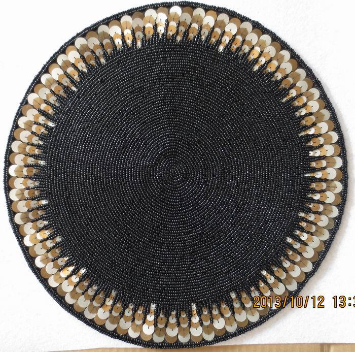 high quality black paper doilies handmade beaded placemat  : high quality black paper doilies handmade beaded placemat round coasters dinning table mat soft decoration pad from www.aliexpress.com size 700 x 693 jpeg 137kB