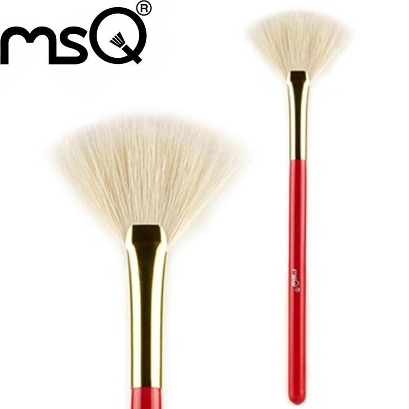 MSQ Brand High Quality Goat Hair Fan Makeup Brush Single Pincel Maquiagem Facial Brush Tool Free Shipping(China (Mainland))