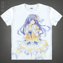 DATE A LIVE T-shirts kawaii Japanese Anime tshirts Manga Shirts Cute Cartoon Kurumi Tokisaki Cosplay shirts 37172682128 tee 136