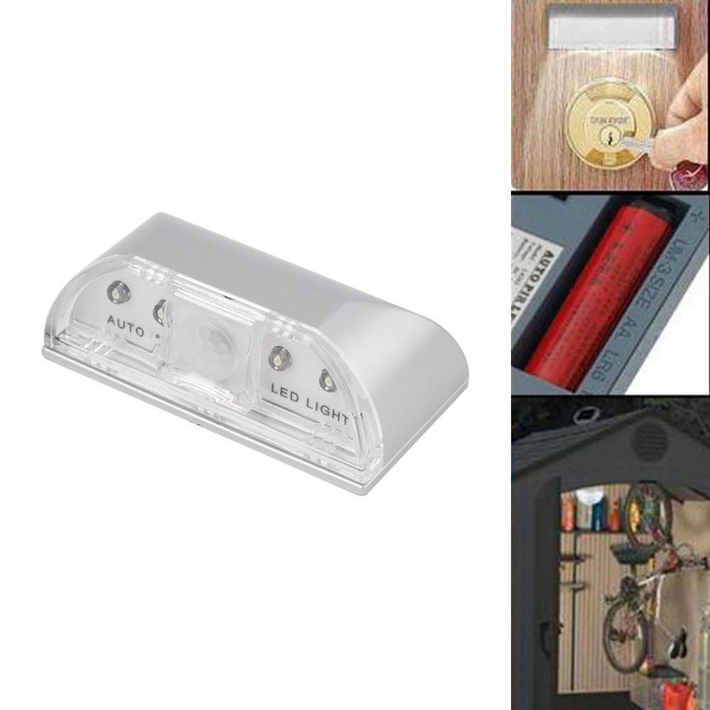 ICOCO 1pc 4 LED PIR Wireless Auto IR Infrared Sensor Motion Detector Key Hole Lamp Ambient Keyhole Light Sensor Promotion Sale