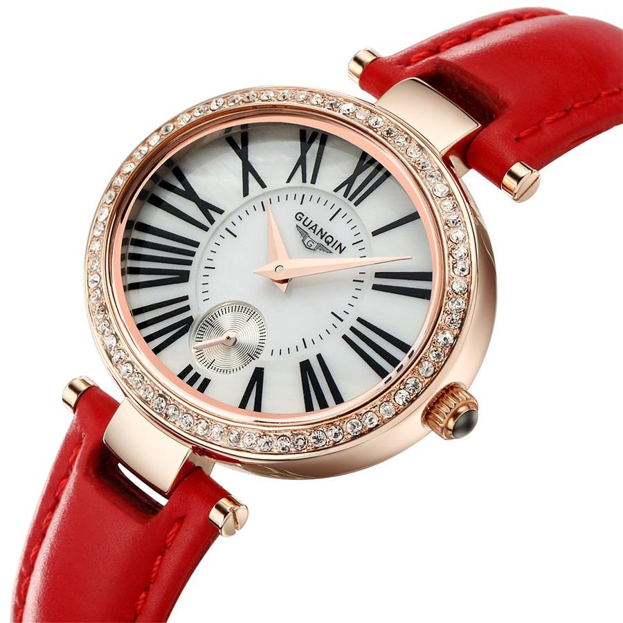 New Design Ladies Watch 2015 Rose good Reloj Mujer Leather Relogio Watches Retro Waterproof Quartz Watch Women Dress Watch(China (Mainland))