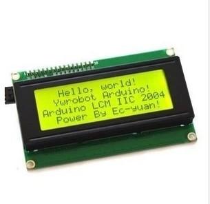 Free shipping ! LCD Board 2004 20*4 LCD 20X4 5V yellow-green screen LCD2004 display LCD module LCD 2004 for arduino(China (Mainland))