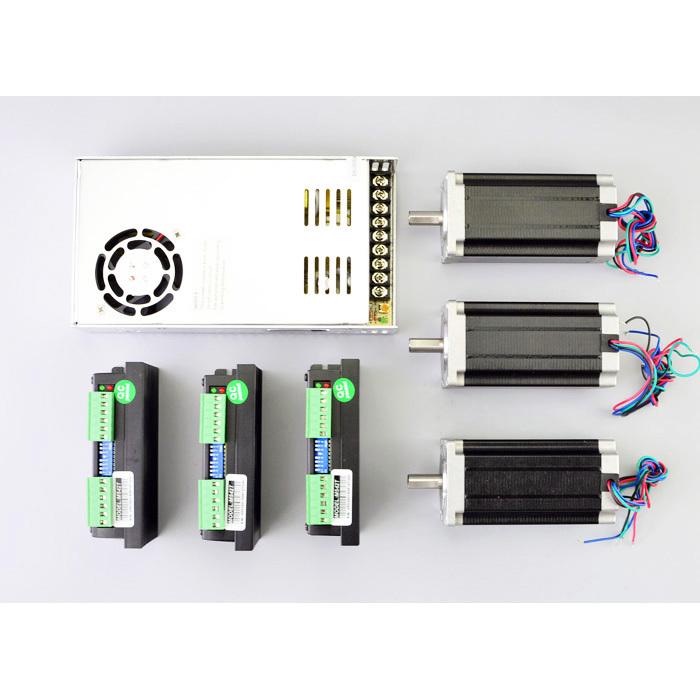 3 axis cnc kit 3nm nema 23 stepper motor m542t for Stepper motor kits cnc