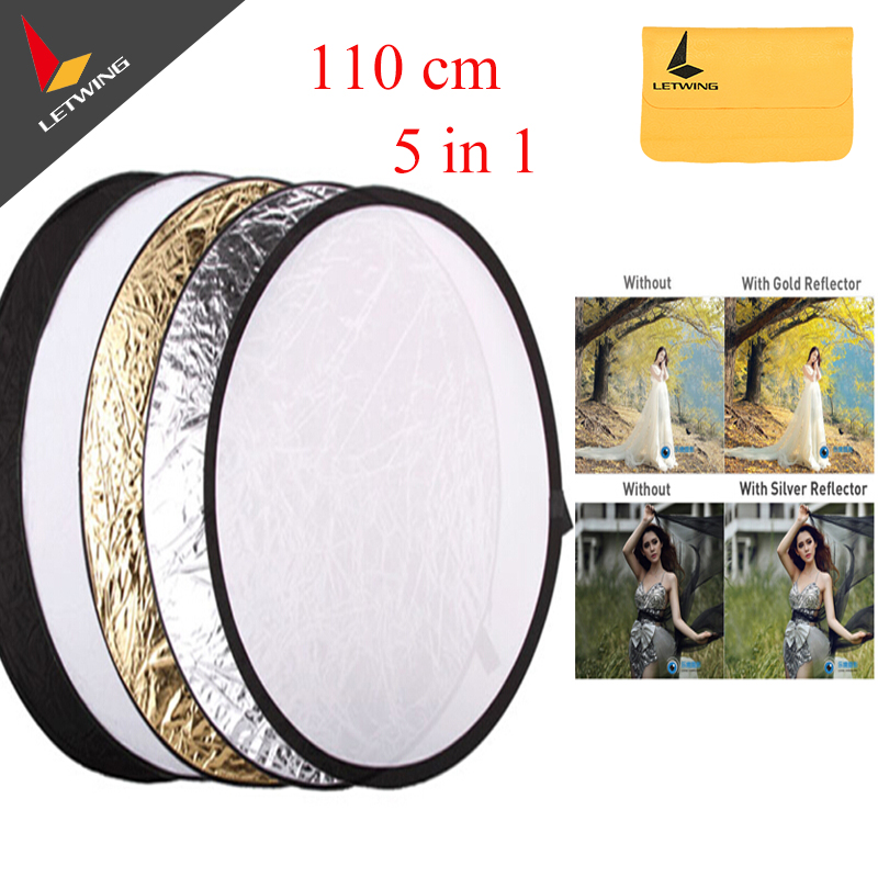 Godox 110cm/43 5 in 1 Photography Studio Flash Multi Photo Collapsible Light Round Reflector Disc Free shipping<br><br>Aliexpress