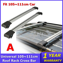 Car Roof Rack Cross Bar 93~111cm Universal for Auto SUV Offroad with Anti-theft Lock Load Top Cargo Luggage Carrier 150LBS(China (Mainland))