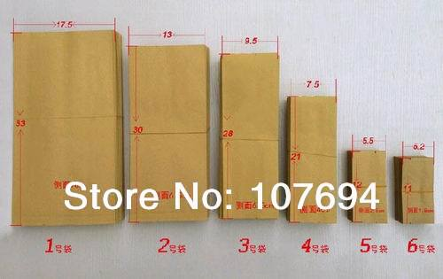 Wholesale Free shipping 50pcs/lot 33*17.5*7CM kraft paper heat seal food packing bag,Aluminum foil tea bag(China (Mainland))