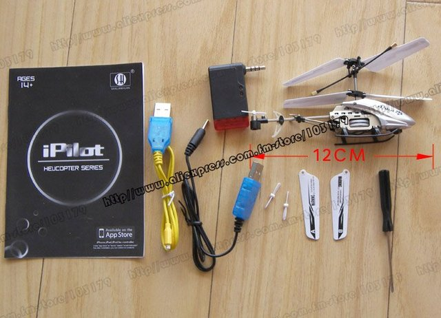 20% off IPilot SH6025 i MINI Remote Controlled Distant by iPhone/iPad/iTouch 3 Channel Helicopter Model With Gyro And USB Charge
