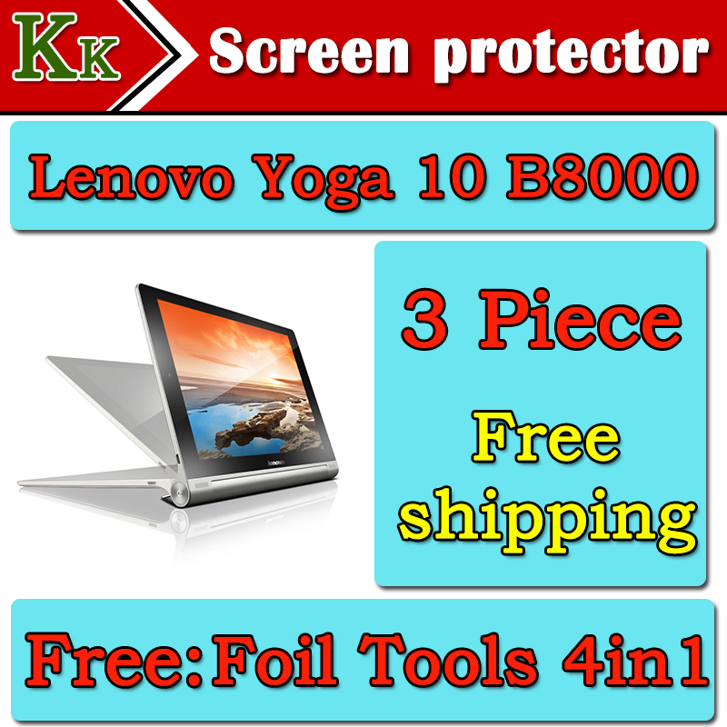 For Lenovo YOGA B8000 Tablet Screen Protector 10.1Lenovo yoga b8000 HD Protective Film FreeShipping+4 in1 Foil Tools as gift<br><br>Aliexpress