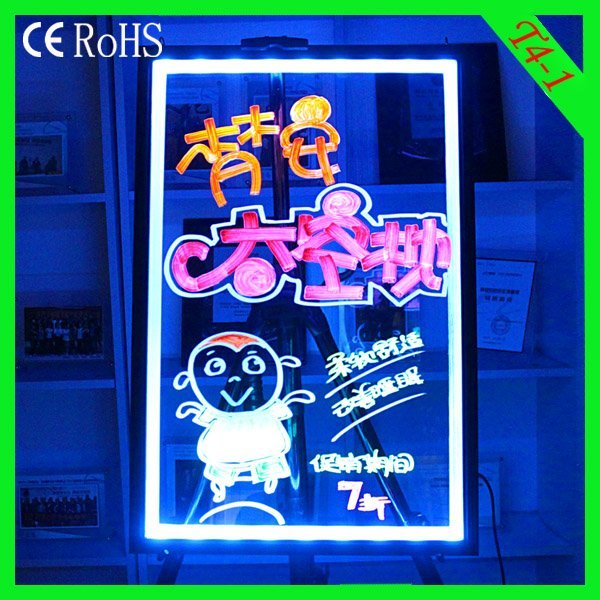Alibaba Express  T4-1(40*60cm)   Poster Stand Acrylic Board Aluminium Alloy with CE&RoHs led panel
