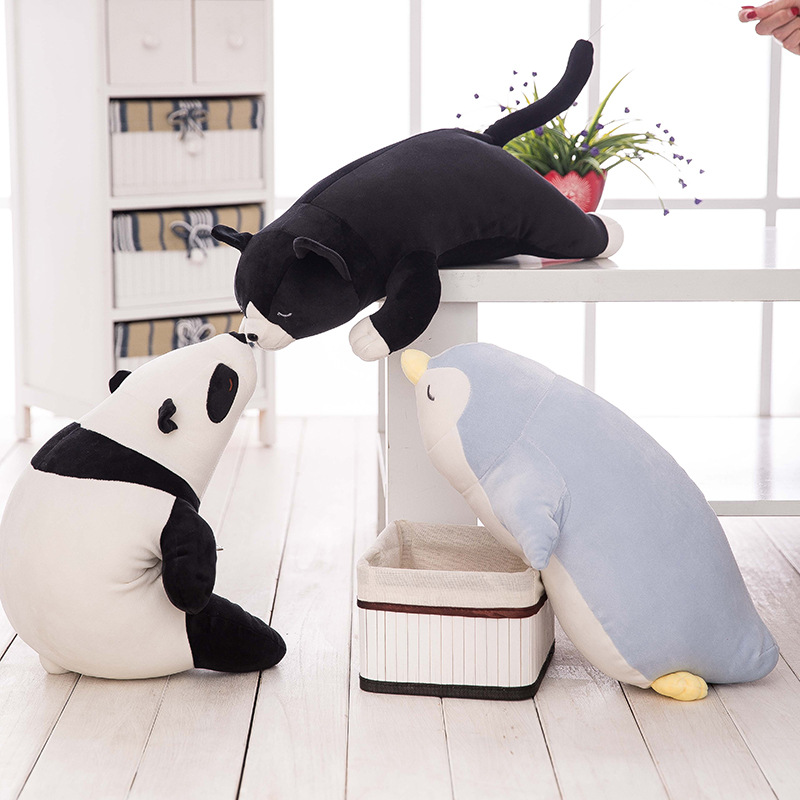 Giant Soft Stuffed Panda Penguin Sea Lions cat Soft Plush Toys for Children Stuff Animal Pillow Cushion Playmate Christmas Gift(China (Mainland))