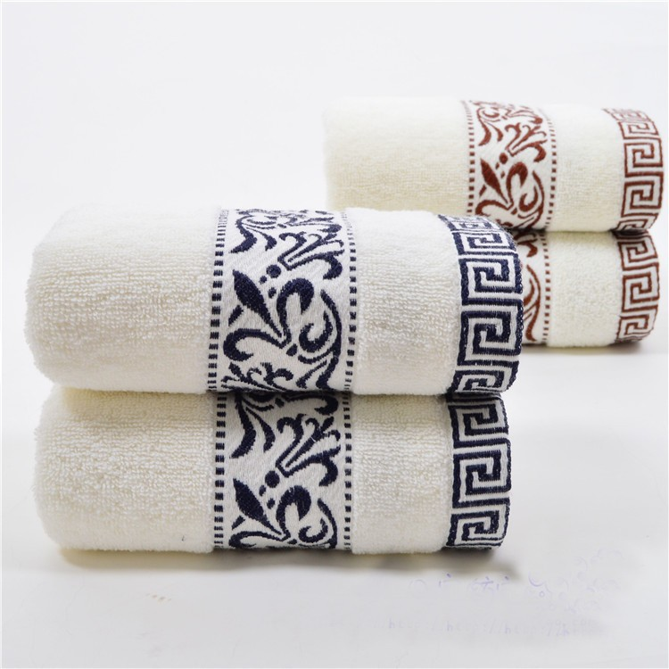 34 74cm embroidered cotton terry hand towels for adults - Decorative hand towels for bathroom ...