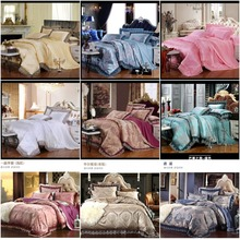 Blue/Green/Red jacquard silk satin bedding set luxury,4pcs lace duvet cover/bed set/bedclothing bed linen queen king 18 design(China (Mainland))