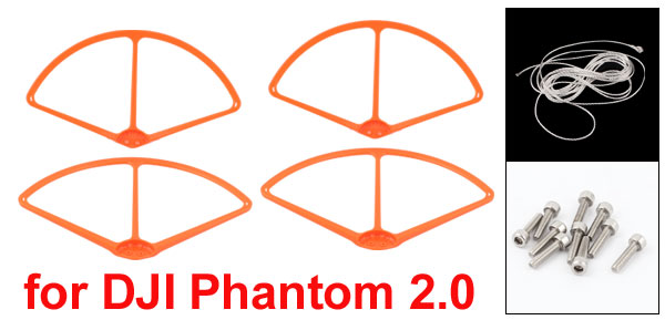 9″ Prop Protective Protector Guard Bumper Set Orange for DJI Phantom 2 Vision