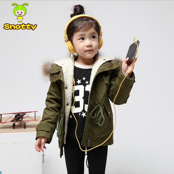 2015 winter children jacket hooded red child outerwear gilrs coat girl jackets 2-8 years old baby girls winter clothing KC-1633(China (Mainland))