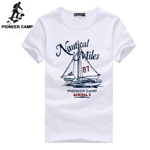 Pioneer Camp 2016 fashion print t-shirt sailboat men t-shirt mens short sleeve t shirt fitness brand clothing tshirt homme thin