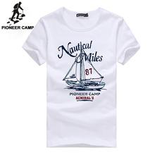 Pioneer Camp 2016 fashion print t-shirt sailboat men t-shirt mens short sleeve t shirt fitness brand clothing tshirt homme thin