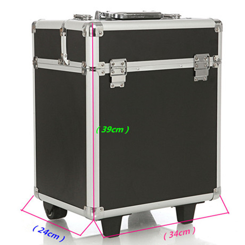 2015 new large UNEQUAL Travel Trolley Case Cosmetic Case Makeup Hair and Beauty munsu Toolbox Toolbox<br><br>Aliexpress