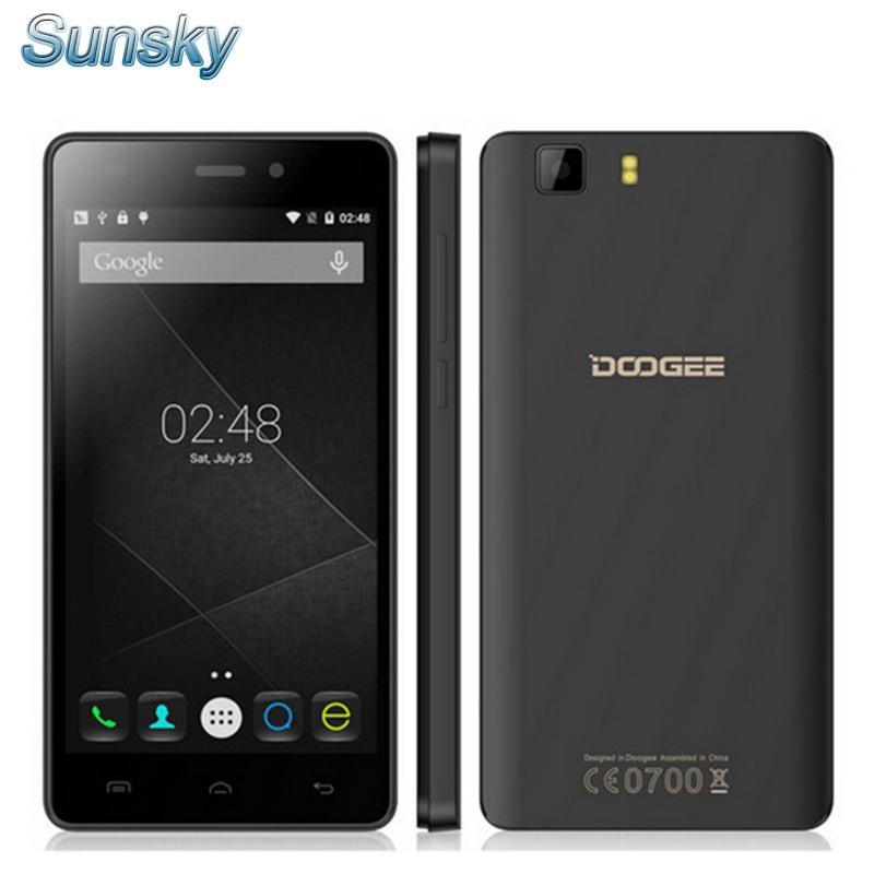Original DOOGEE X5 Cellphone 5.0inch IPS HD Android 5.1 MTK6580 Quad Core 1.2GHz 1GB RAM 8GB ROM 3G GPS Smart Phone(China (Mainland))