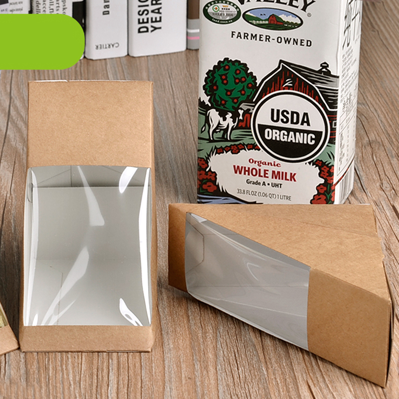 Creative Kraft Paper Sandwich Box Eco Friendly Disposable Cake Dessert Box Foldable Takeaway Food Package 100pcs/lot SK731(China (Mainland))