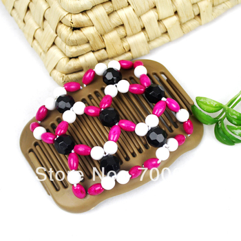 Africa butterfly hair com,wooden Double/twin Magic stretch butterfly Hair clips& hair Combs accessories for woman , 10PCS/Lot,