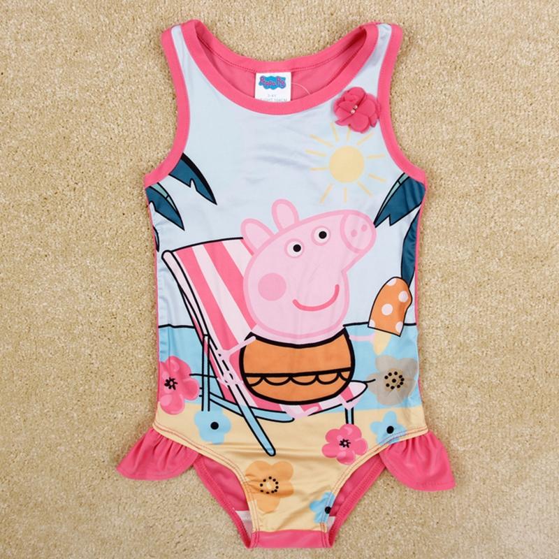 girls swimsuit girls clothes swimsuit girls children clothing girls swimwear nova kids clothing printed cartoon pig bobo choses<br><br>Aliexpress