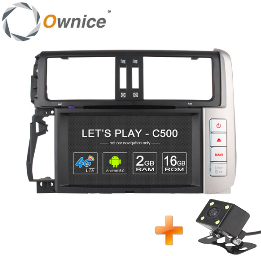 "4G SIM LTE 2 Din 8"" 1024*600 Android 6.0 4 Core Car DVD for Toyota Land cruiser Prado 150 2010 - 2013 car GPS Stereo BT wifi(China (Mainland))"