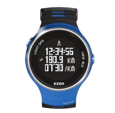 Outdoor sports watch GPS watch Ezon G1  5ATM Motion records distance phone to remind TPU  strap GPS trajectory  free shipping