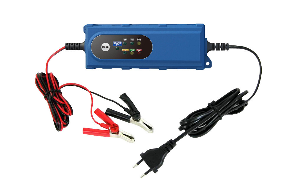 6V 12V Car Battery Charger 12V Lead Acid Battery Charger Smart Control Battery Charger 5 Stage Automatic Charge Hot New(China (Mainland))