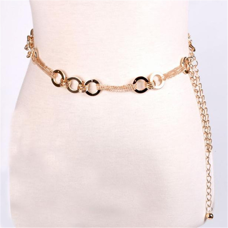 New Arrival Multifunction Belt Lady Fashion Metal Chain Style Belt Women Body Chain Gold Luxury Necklace Femme Fashion Belt J13(China (Mainland))