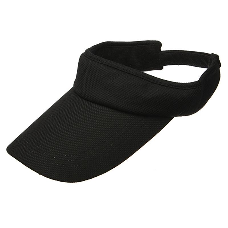 Black Fashion Baseball Caps Adjustable Unisex Soild Summer Sun Visor Hat Sport Golf Tennis Cotton Sun Hats 6 Colors For Choice(China (Mainland))