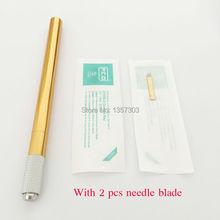 Microblade Microblading stift Алюминиевого сплава Руководство ручка татуировки для перманентного макияжа pen Бровей татуировки tebori ручка(China (Mainland))
