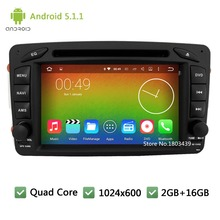 Quad core Android 5.1.1 Car DVD Player Radio Audio Stereo Screen GPS For Mercedes-Benz Vaneo Viano Vito C-W203 A-W168 CLK-C209